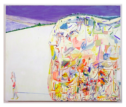 Amy Sillman Me & Ugly Montain 2003